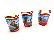 10pcs/lot Ladybug party cups Ladybug paper glasses kids birthday party decoration Ladybug party supplies(China)