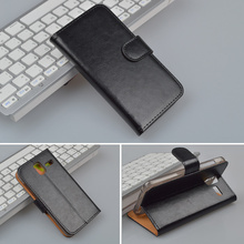 For Lenovo S580 Cover Crazy Horse Wallet Flip Leather Case with ID Card Holder and Stand Function 4 Colors in Stock