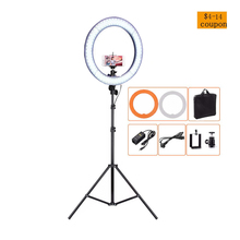 Fotopal LED Light Ring For Makeup LED Accumulators A Photo Telephones Selfie Ring Light Annular Lamp With 2M Tripod&Bags