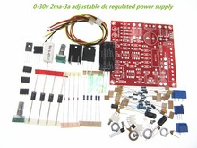 5set Adjustable 0-30V 2mA - 3A DC Regulated Power Supply DIY Kit Short Circuit Current Limiting Protection assembly parts