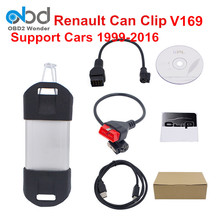 2017 Newest Renault Can Clip Scanner V169 Auto Renault Scanner With High Quality Gold Edge Renault Clip Support Multi-Language