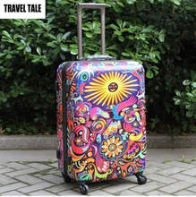 "TRAVEL TALE 20""24""28""inch color luggage trolley koffer bag colorful suitcases spinner(China)"