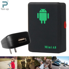 A8 Mini GSM/GPRS Tracker Global Real Time GSM GPRS Tracking Device With SOS Button for Cars Kids Elder Pets No GPS No GPS