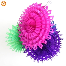 1PC 12''(30CM) Snowflake Tissue Hollow Hanging Paper Fans For Home Garden Wedding / Kids Birthday Party / Baby Shower Decoration