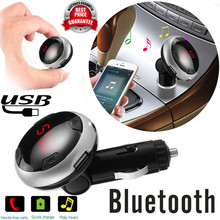 High Quality  car-styling  Wireless LCD Bluetooth Car Kit MP3 Player FM Transmitter AUX USB Disk Charger Handsfree Kit
