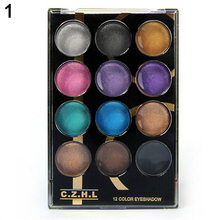 2016 Top Quality 12 Colors Professional Makeup Cosmetic Palette Shimmer Natural Eye Shadow Powder