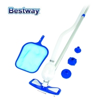 58234 Bestway AquaClean Pool Cleaning Kit Clean Set with Multi Adapter & Adjustable 2.79m Pole for all Bestway Pools & Filters(China)