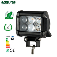 4 Inch 4D 18W 6LED Projector Len Spot Beam Work Light Lamp car for Off Road Motorcycle Tractor Truck SUV ATV Driving Light bar(China)