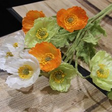 Artificial flowers poppy poppies Silk flowers for wedding decoration/Rustic home decoration flowers/Artificial plants long 60cm