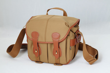 Free shipping! KANI WM-530 Camera and laptop Hadley Large Pro Shoulder Bag (Khaki & Chocolate Leather)
