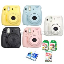 Fujifilm Instax Mini 8 Camera + 50PCS Sheet Fujifilm Fuji Instax Mini White film for Mini 8 25 Yellow Blue White Black Pink