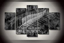 5Pcs Framed Printed New Zealand All Blacks Painting on canvas room decoration print poster picture canvas cheap modern paintings