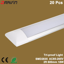 Led Tri-proof light Clean Purification Tube Light 2ft/18W 600mm 60cm Led Tube Lamp Flat Batten Light Linear Lamp