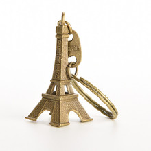 1 PC Key/Bag/Cell Phone Straps Bag Parts & Accessories 5cm Lovely Bronze Tone Paris Eiffel Tower For Charms(China)