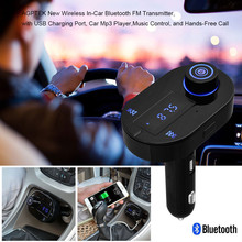 1PC Universal Car FM Transmitter Bluetooth 4.0 Hands-free LCD MP3 Player Radio Adapter Kit Charger