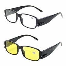 Hot Multi Strength Reading Night Vision Glasses Presbyopia Diopter Eyeglass LED