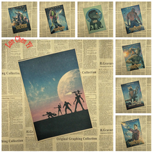 Sci fi action movie Guardians of the Galaxy Matte Kraft Paper Poster Office Gift Room Dining Home Decor wall sticker Design(China)