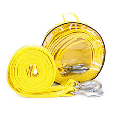 5 Tons 4M Length Car Trailer Cable Steel Tow Rope Emergency Heavy Duty Towing Strap Rope with Hooks