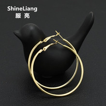 2017 Big Hoop Earrings for women Fashion Circle Trendsetter Nightclub DJ Exaggeration Female girl Classic Gold silver wholesale