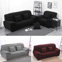 sofa cover 1/2/3 seat for living room l shaped stretch corner sofa cover elastic more color black gray coffee