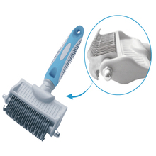 Pet grooming tools double sides blades pet dematting brush