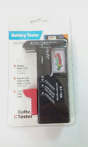 1.5V and 9V Battery Tester easy check power level battery test BT-168(China (Mainland))