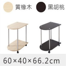 60*40*66CM Modern Wood Bedside Table Sofa Side Coffee Table Mobile Corner Table Removable Tea Cart With Wheels