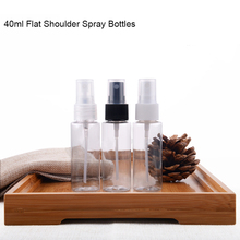 50pcs/lot 40ml Plastic Empty Lotion Shampoo Water Refillable Spray Bottles Transparent Frascos de Perfumes SPB20(China)