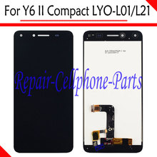 Black New Full LCD Display + Touch Screen Digitizer Assembly Replacement For Huawei Y6 II Compact LYO-L01 LYO-L21 Free Shipping(China)
