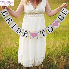 FENGRISE Wedding Decoration 3M Bride To Be Paper Banner Just Married Miss To Mrs Bridal Shower Bachelorette Party Favors Supply