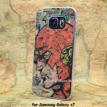 Comic Book Collages flash man transparent clear hard case cover for Samsung Galaxy s6 s6 edge s7 s7 edge