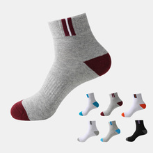 Buy 5 Pairs/lot New Sport Socks Professional Cycling Socks Men Basketball Running Bicycle Breathable Deodorant Cotton Socks HEQ204 for $11.30 in AliExpress store