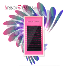 Arison lash wholesale High Quality Real Mink BCDJ Eyelash Extensions Soft Black Fake False Lash8-14mm Makeup Tool Freeshipping(China)