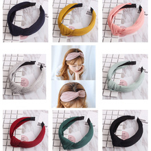 Buy 1PC knitting Crossed headband Fashion Women Girls Elastic Turban Twisted Knotted Retro Hair bands Wide Hairband Hair Accessories for $1.06 in AliExpress store