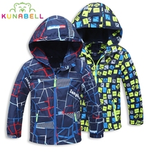 Kids Waterproof Windproof For Boys Children Jackets For Girls Warm Polar Fleece Sport Outerwear Top Teenager Winter Coat Clothes(China)