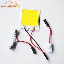 1Pcs C5W cob 48 SMD chip White Reading Lamp led T10 Car Led parking Bulb Auto Interior Panel Light Festoon license plate lights