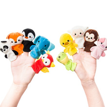 10 Cartoon Animal Finger Puppet Kinderen Favor puzzle Plush creative hand puppet doll toys for children parent-child interaction