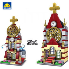 KAZI 2IN1 City Mini Architecture Reims Cathedral Church Model Building Blocks Urban Architecture Bricks Toys for Children(China)