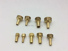 "free shipping copper fitting 8mm Hose Barb x 3/4"" inch Female Brass Barbed Fitting Coupler Connector Adapter"
