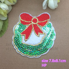 New Arrival 10 pcs Christmas Series sequin embroidered cartoon patch LX iron on Motif Applique Fabric cloth embroidery accessory
