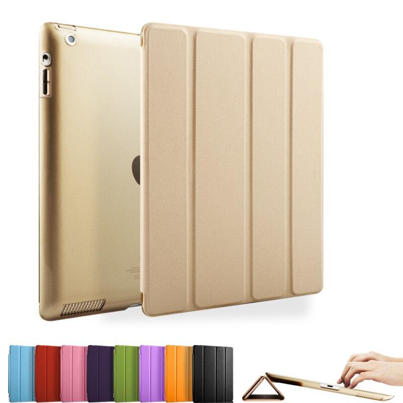 Case for iPad 2 3 4  Color PU Transparent Back Ult...