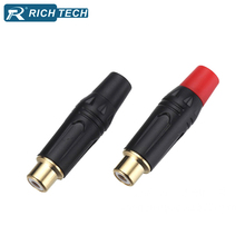 Gold RCA Socket Connector 4pcs/2pairs Audio Video RCA Female Jack Wire Adapter