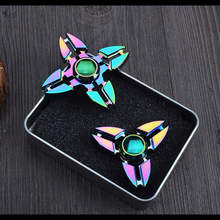 500pcs Colorful Fidget Hand Spinner Triangle Torqbar Puzzle Finger Toy EDC Focus Fidget Spinner ADHD Autism Learning DHL ship