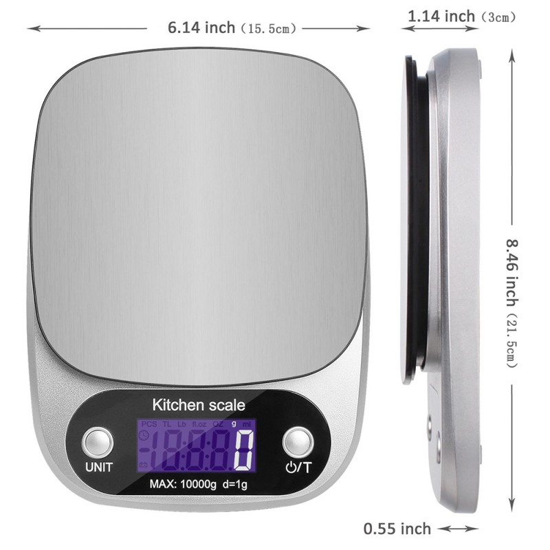 10kg /1g Mini Digital Kitchen Scale Food Diet Balance Weight Scale LED Electronic Cooking Scale Measure Tools Overload Promopt