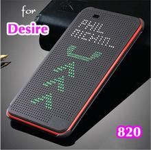 case For 820 G Slim Dot Bag Smart Auto Sleep View Shockproof Silicone Original Leather Flip Cover Case For HTC Desire 820 820G(China)
