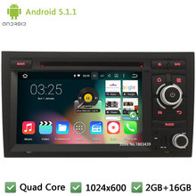 "WIFI FM BT Quad core Android 5.1.1 7"" 1024*600 DAB+ Car DVD Player Radio Audio PC Stereo Screen GPS For Audi A4 S4 RS4 2002-2008"