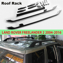For Land Rover Freelander 2 LR2 2004-2016 Roof Rack Rails Bar Luggage Carrier Bars top Cross Racks Rail Boxes Aluminum alloy 2PC(China)