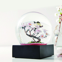 NEW Crystal ball Home decor crafts snow flowers tree Glass Sphere Fengshui Figurines Souvenirs lover Wedding Party birthday gift