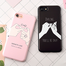 Lover's Soft TPU Phone Back Cover For iPhone 7 7 Plus Forever Love Mobile Phone Bags & Cases For iPhone 6 6S Plus 7 7 Plus