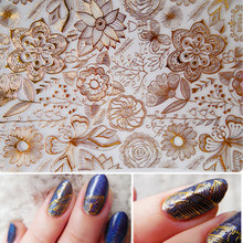 1 Sheet Embossed 3D Stickers Rose Flower Pattern DIY 3D Nail Art Stickers Decals #BP054(China)